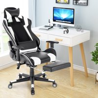 Stylish Gaming Chair High-Back Office Chair Racing Style w/ Lumbar Support & Headrest