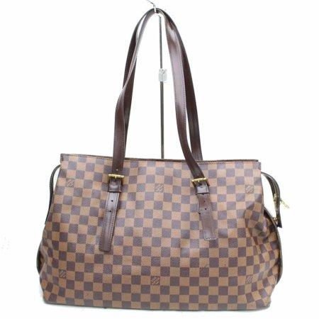 ef90b5e6db98 Louis Vuitton - Chelsea Damier Ebene Zip 868951 Brown Coated Canvas ...