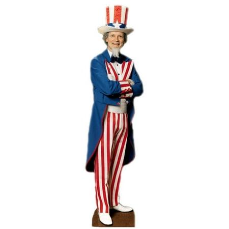 Uncle Sam America Patriotic July Standup Standee Cardboard Cutout Poster - Cardboard Standees