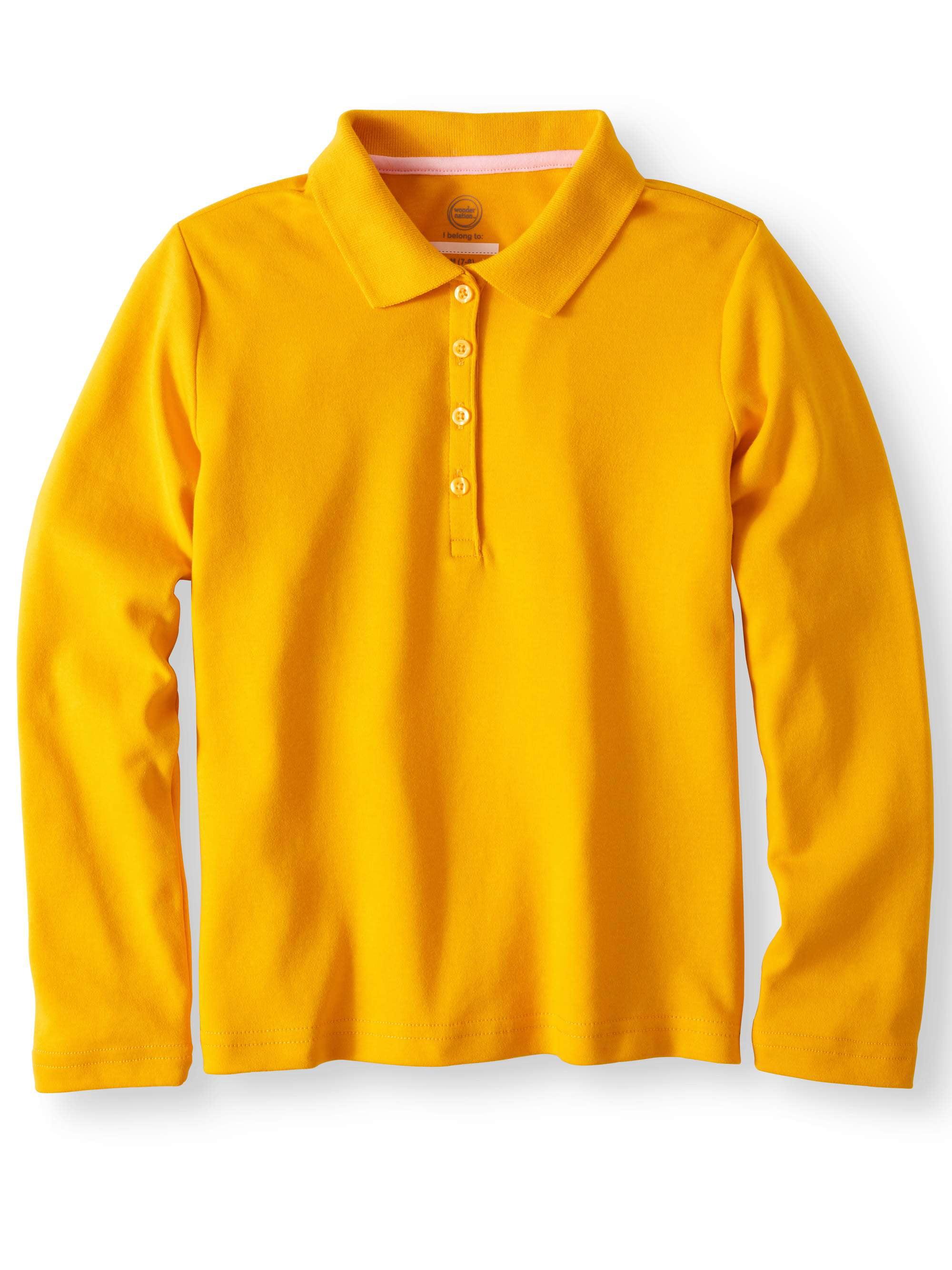 Girls School Uniform Long Sleeve Interlock Polo