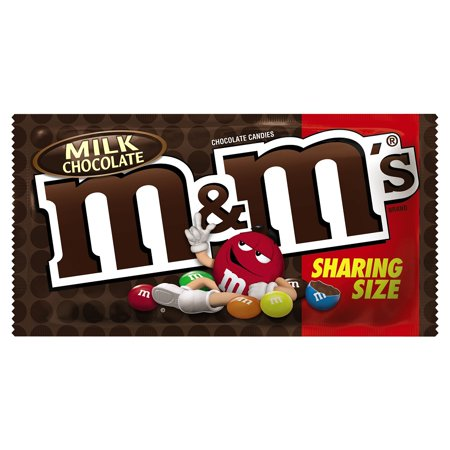 M&M's, Milk Chocolate Candy, Sharing Size, 3.14 Oz