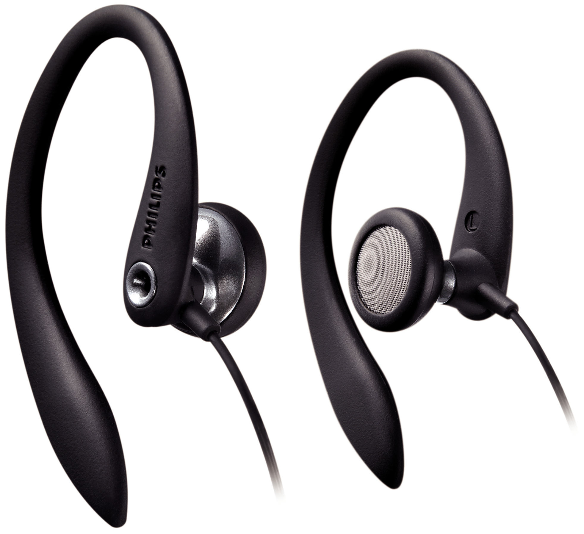 Philips SHS3200 Earhook Headphones - Black (New Open Box)