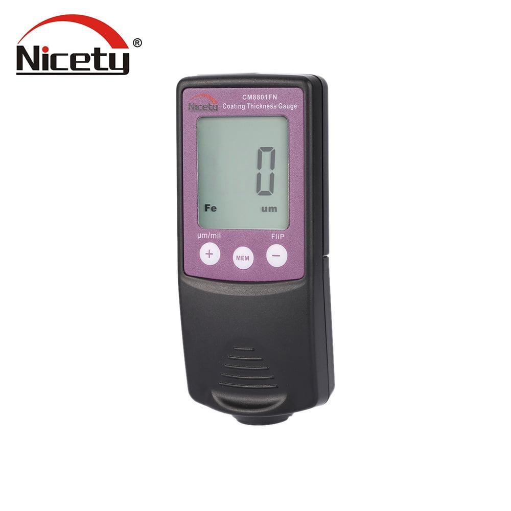 Nicety CM8801FN Handheld Digital Coating Thickness Gauge Tester Fe NFe Coatings Data Storage by