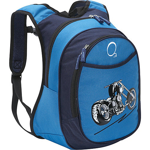 Obersee Kids Pre-School Motorcycle Backpack with Integrated Lunch Cooler
