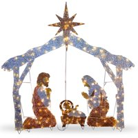 "National Tree 72"" Crystal Nativity"
