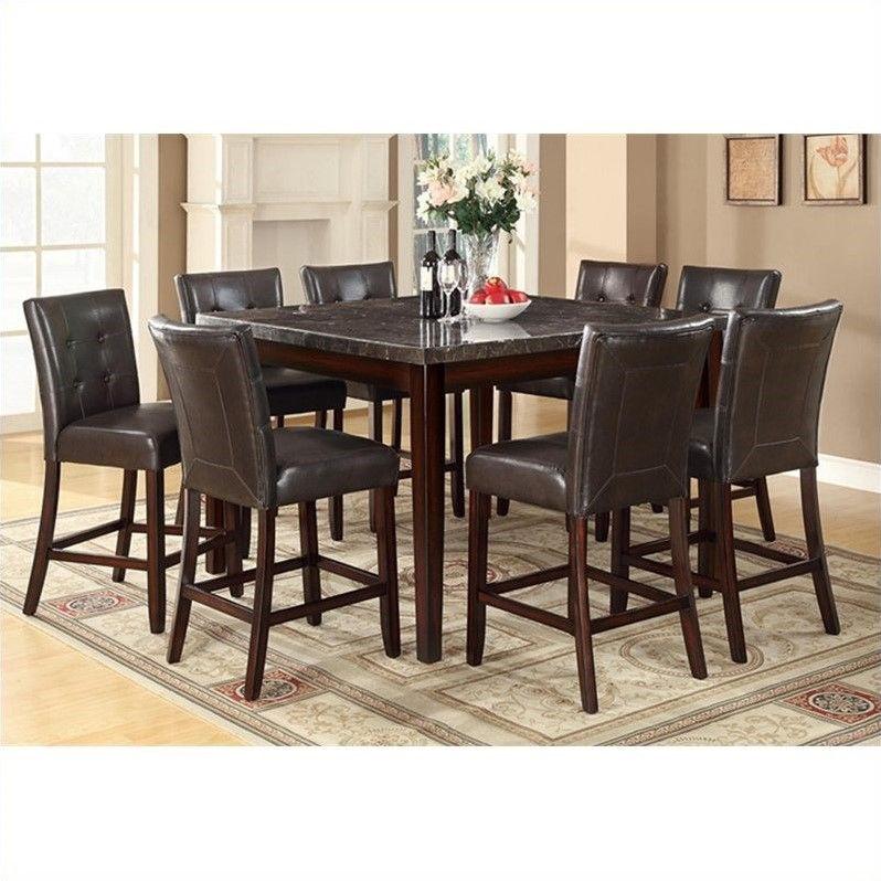 Coaster Furniture Milton 9 Piece Counter Height Table Set...