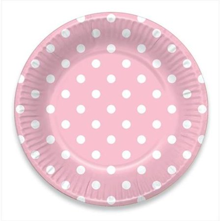 LolliZ 9 in. Paper Plates. Pink & Polka Dots, 12- Pieces](Pink And White Polka Dot Paper Plates)