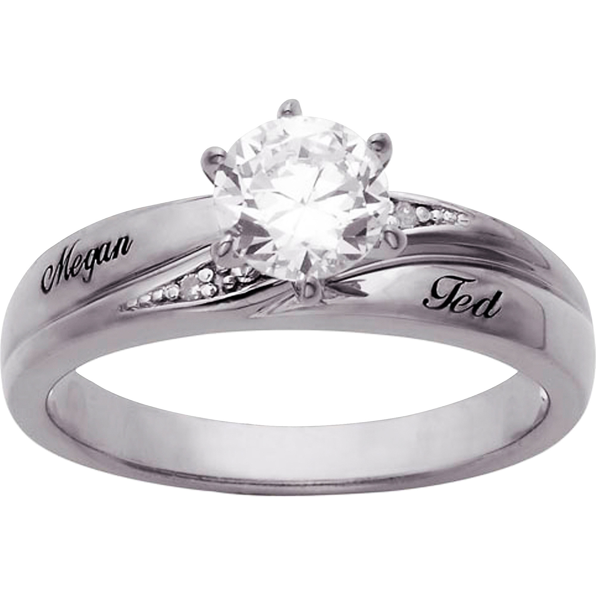 5 Carat Tgw Cubic Zirconia Engagement Ring In Sterling  Silver  Walmart