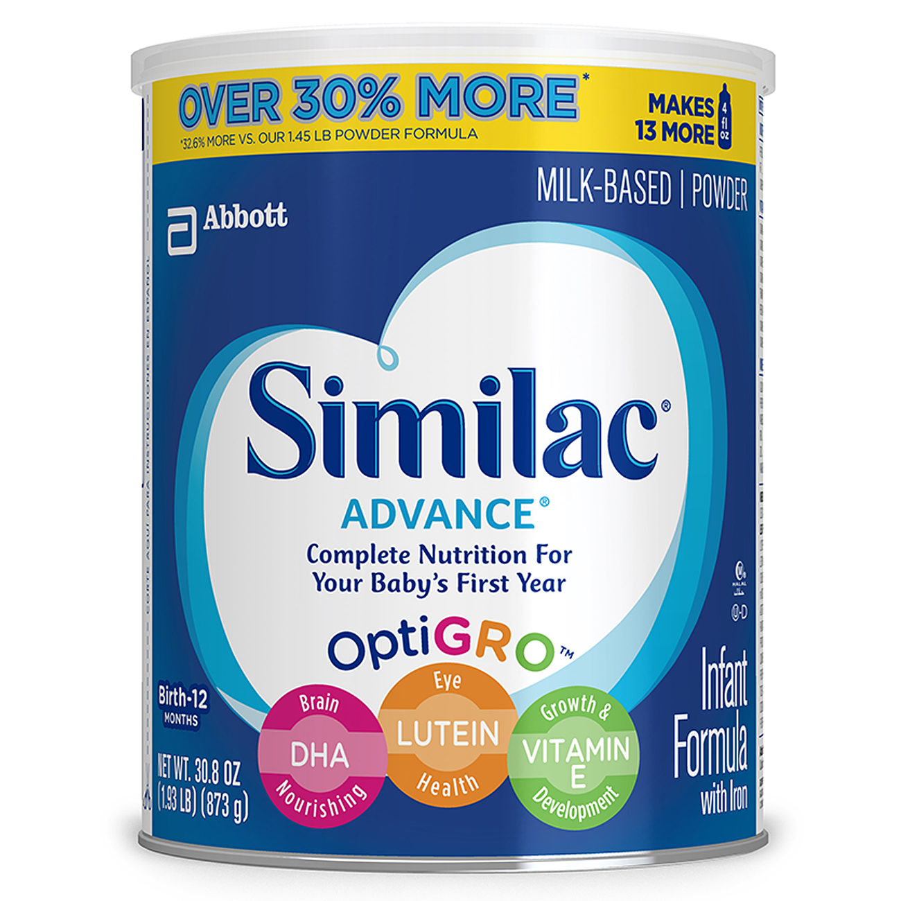 Similac Advance Infant Formula with Iron, Powder, 1.93 lbs (Pack of 6) by Similac