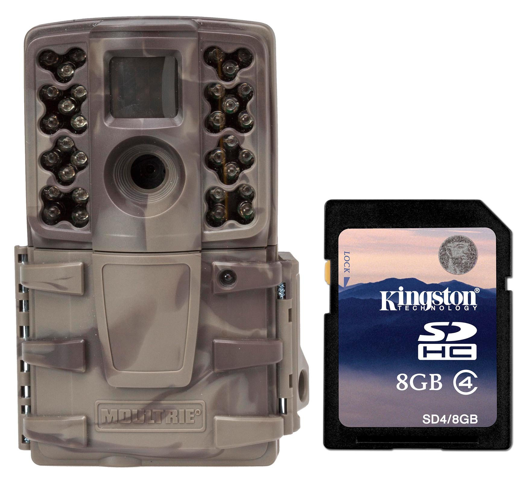 Moultrie No Glow Invisible 12 MP Mini A20i Infrared Trail Game Camera + SD Card by Moultrie