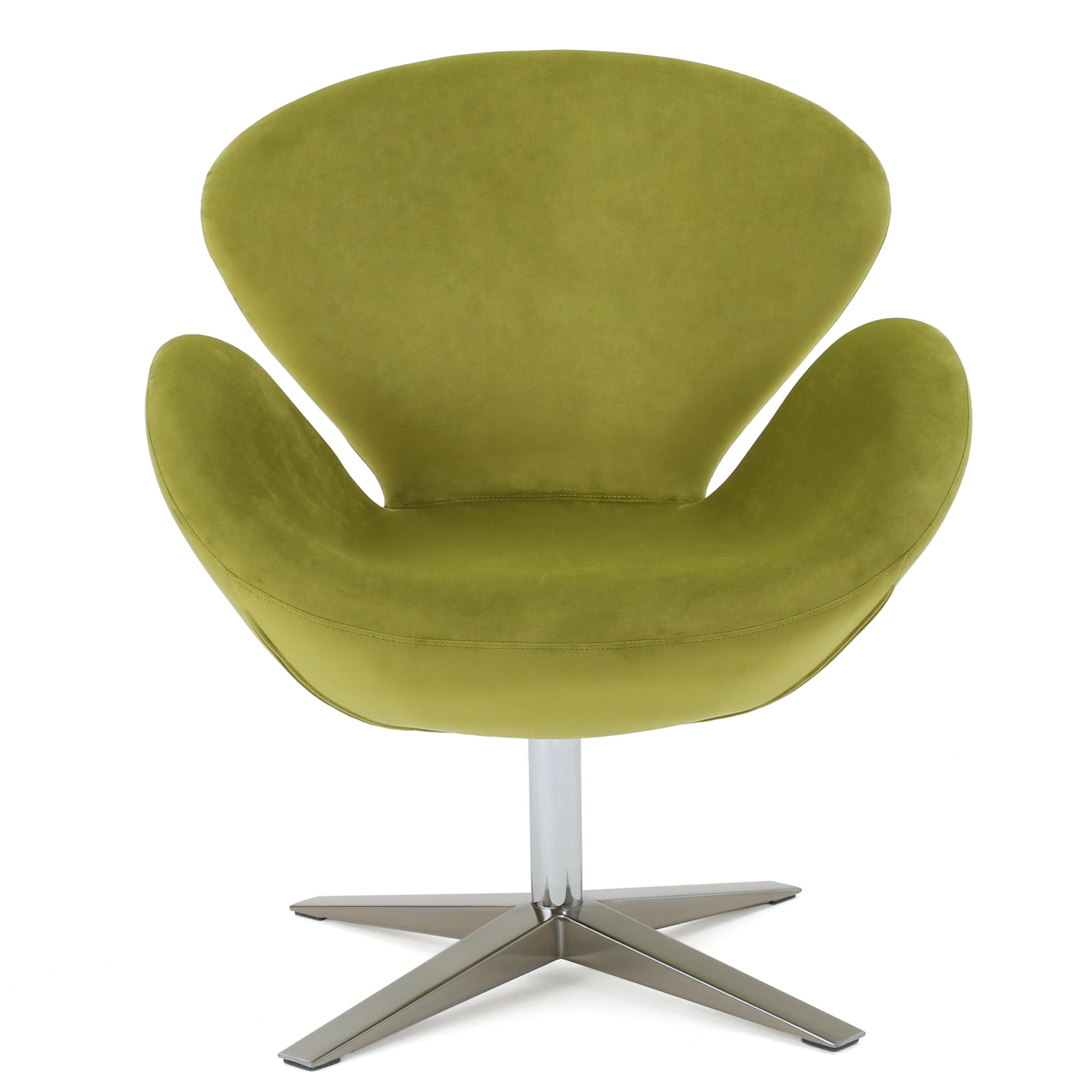Senna New Velvet Swivel Chair, Green