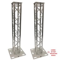"(2) DJ Lighting Aluminum Truss Light Weight Dual 6.56 ft Totem System Moving Head Includes 26""x26"" Bases Instead of 24""x24"" Like Others!"