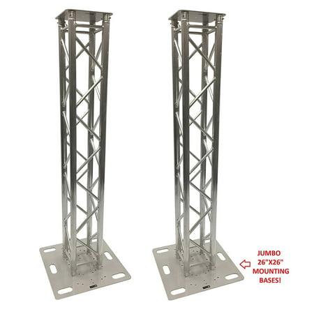 (2) DJ Lighting Aluminum Truss Light Weight Dual 6.56 ft Totem System Moving Head Includes 26