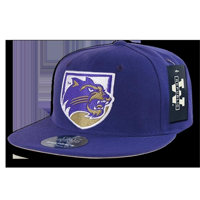 W Republic College Snapback Western Carolina University, Purple