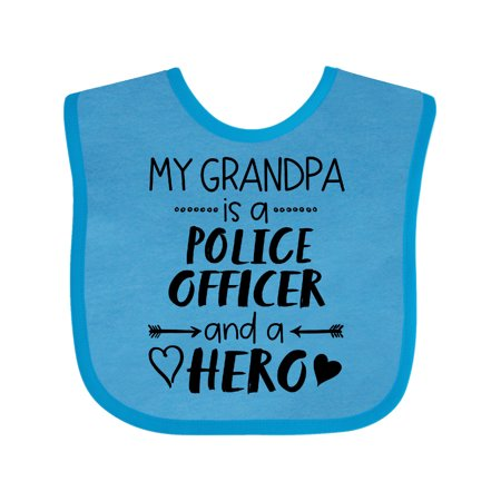 My Grandpa is a Police Officer and a Hero Baby Bib