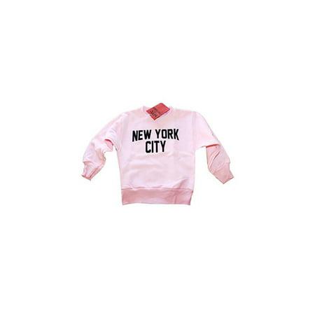 6e2ec5e5 NYC FACTORY - Youth Large Nyc Factory Kids Pink Crewneck Sweatshirt New  York City Youth Shirt Screenprinted Girls Lennon - Walmart.com