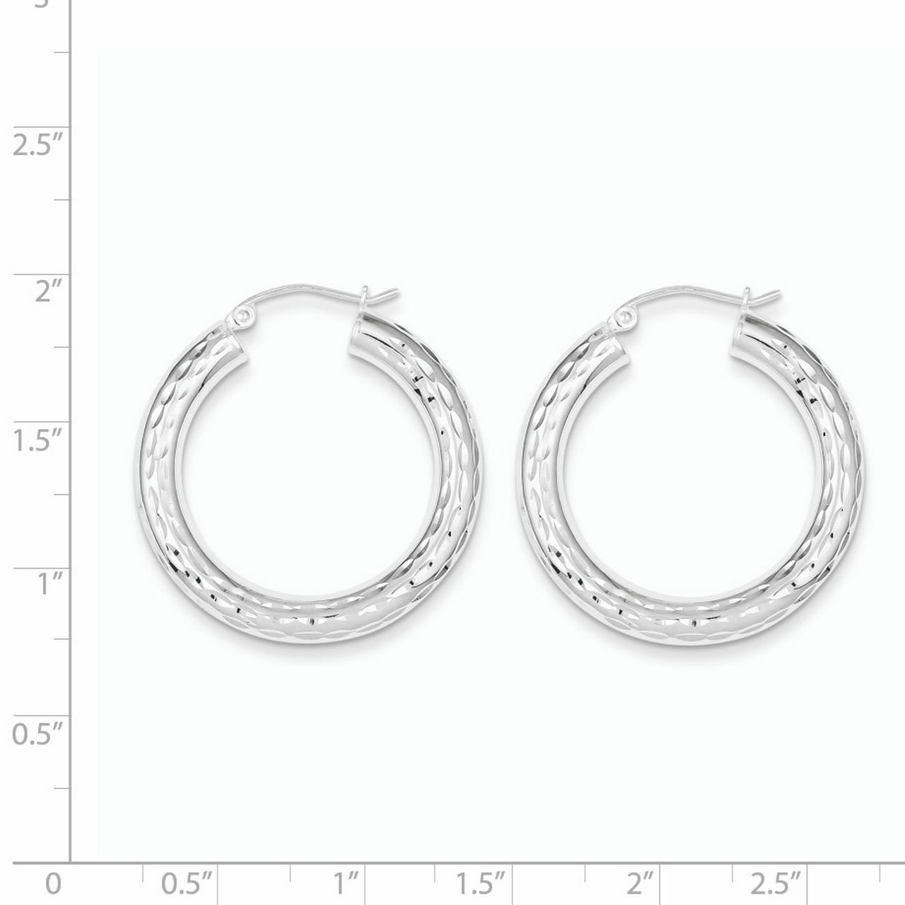 925 Sterling Silver 4mm Hoop Earrings Ear Hoops Set Round Classic Fine Jewelry Gifts For Women For Her - image 1 of 2