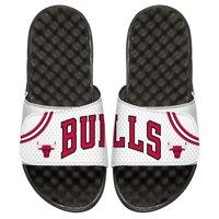 Chicago Bulls ISlide Home Jersey Split Slide Sandals - White