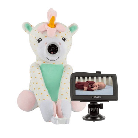 zooby car home video baby monitor unicorn. Black Bedroom Furniture Sets. Home Design Ideas