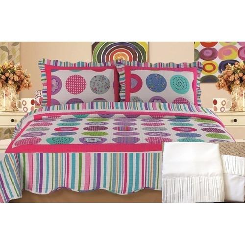 Home Sensation 100pct Cotton 7 Piece Reversible Quilt Set