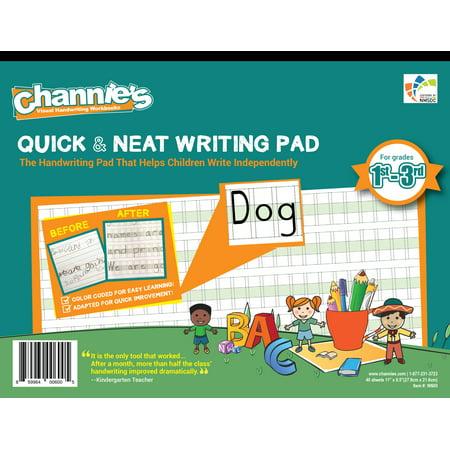 Channie\'s Quick & Neat Handwriting workbook worksheet improve ...