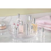 InterDesign Rain Lazy Susan Turntable Cosmetic Organizer for Vanity Cabinet to Hold Makeup, Beauty Products, Clear