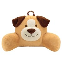 """Sweet Seats Adorable Dog Children's Plush Floor Cushion   Ideal for Children Ages 2 and up   Storage Pocket on Back   26""""W x 14""""D x 16""""H"""