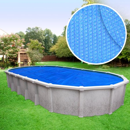 Crystal Blue Heavy-Duty Solar Cover for Oval Above Ground Swimming Pools,  12 x 24 Oval