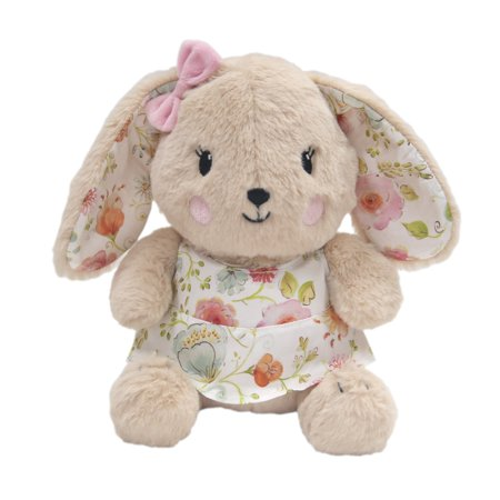 Spring Bunny - Lambs & Ivy Sweet Spring Plush Bunny - Sugar  -  Pink, Beige, White, Green,