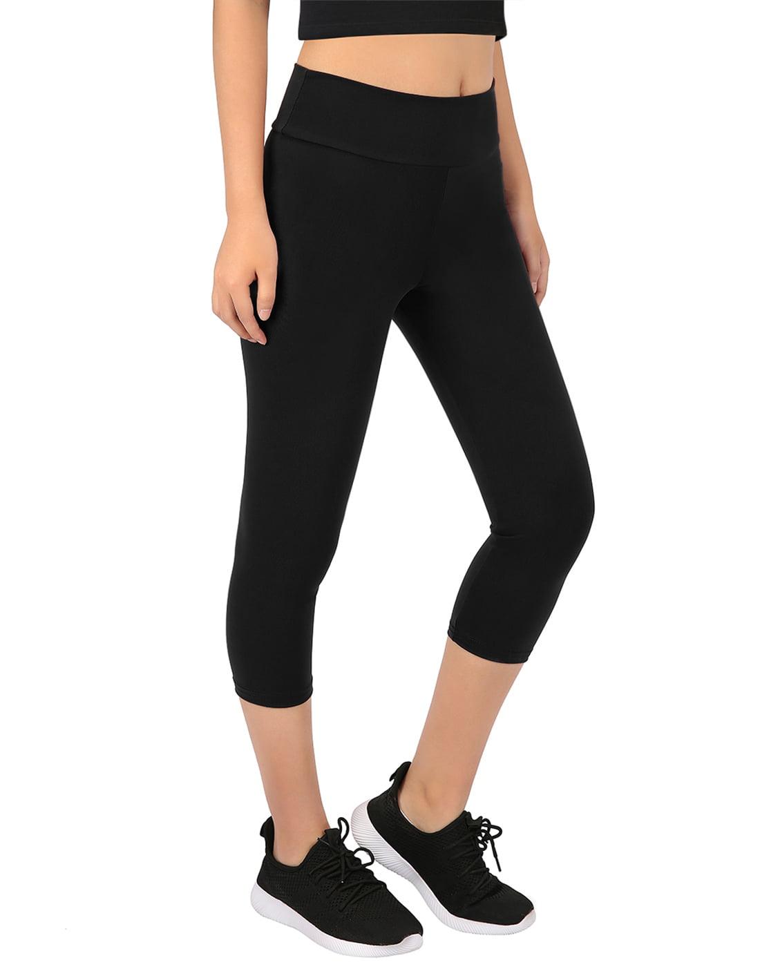 4428866d0 HDE - HDE Womens Scrunch Butt Lifting Capri Leggings High Waist Workout Gym Yoga  Pants (Charcoal