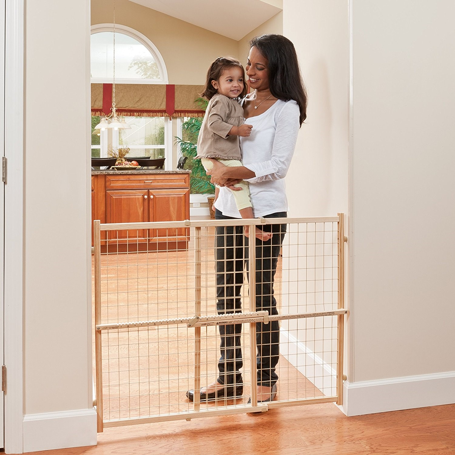"Evenflo Position & Lock Tall Pressure Mount Gate, 31""-50"