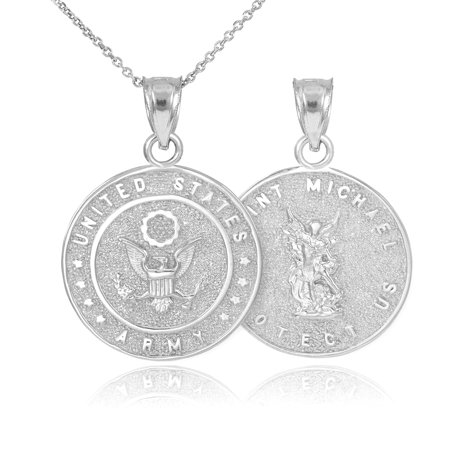 White gold us army reversible st michael pendant necklace walmart white gold us army reversible st michael pendant necklace aloadofball Choice Image