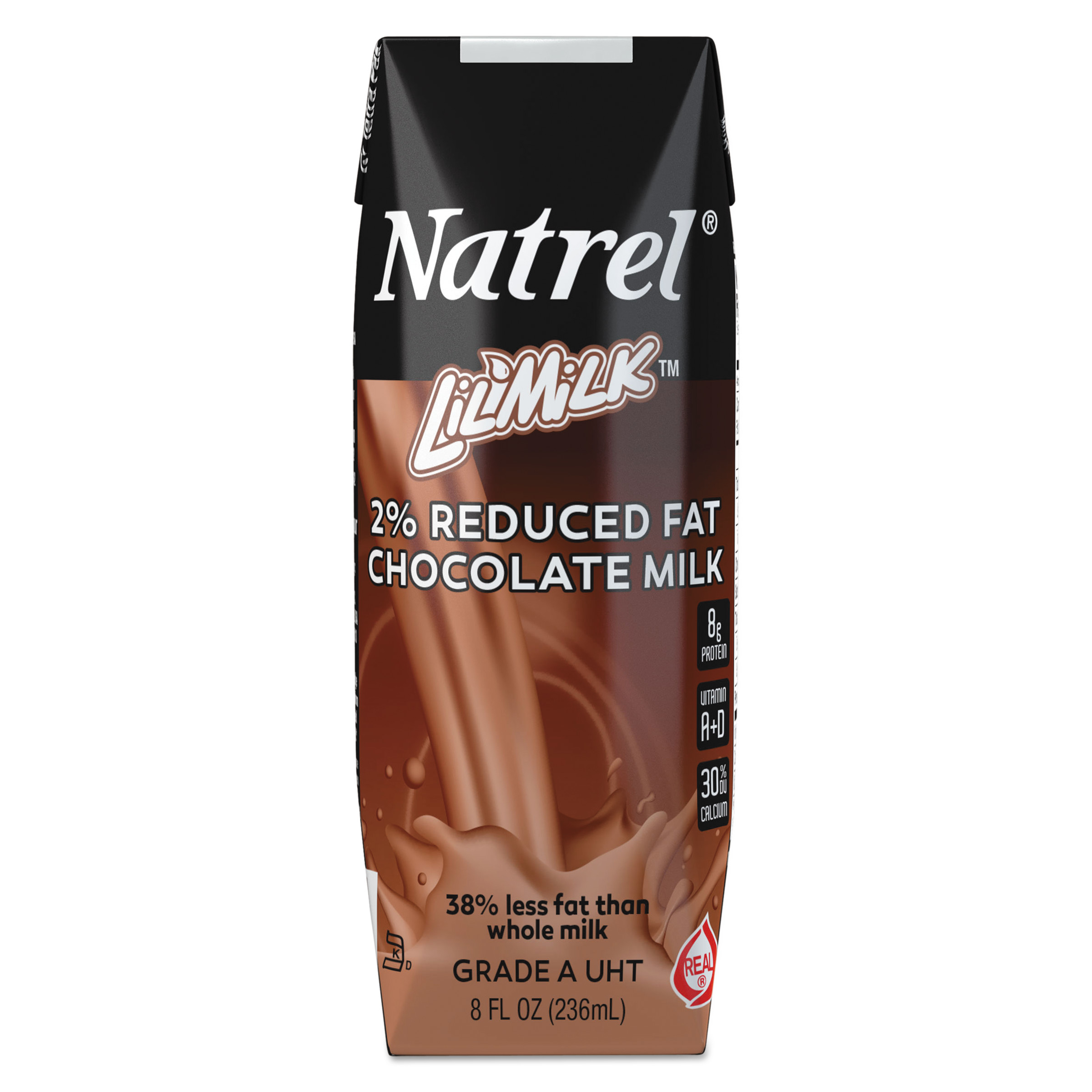 Lil' Milk 2% Reduced Fat Chocolate Milk, 0.5 pt, (Pack of 3)