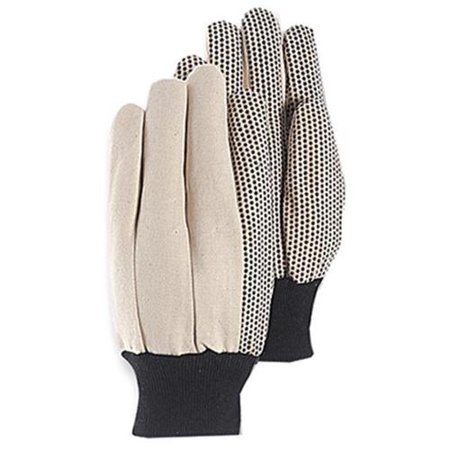Magid Glove & Safety Mfg T30PT Canvas Glove, Black PVC Dots, Large