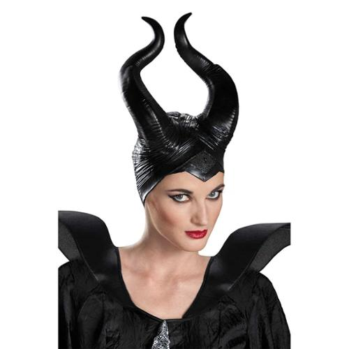 Disguise Women's Disney Maleficent Movie Maleficent Deluxe Adult Horns, Black, One Size