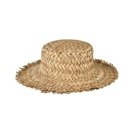 Women's San Diego Hat Company Seagrass Boater with Frayed Edge SGF2014 Natural One Size - Boater Hats