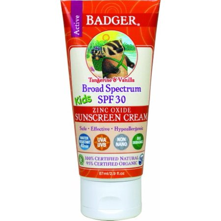 2 Pack Badger Organic SPF 30 Kids Sunscreen Tangerine & Vanilla 2.9 oz Tube
