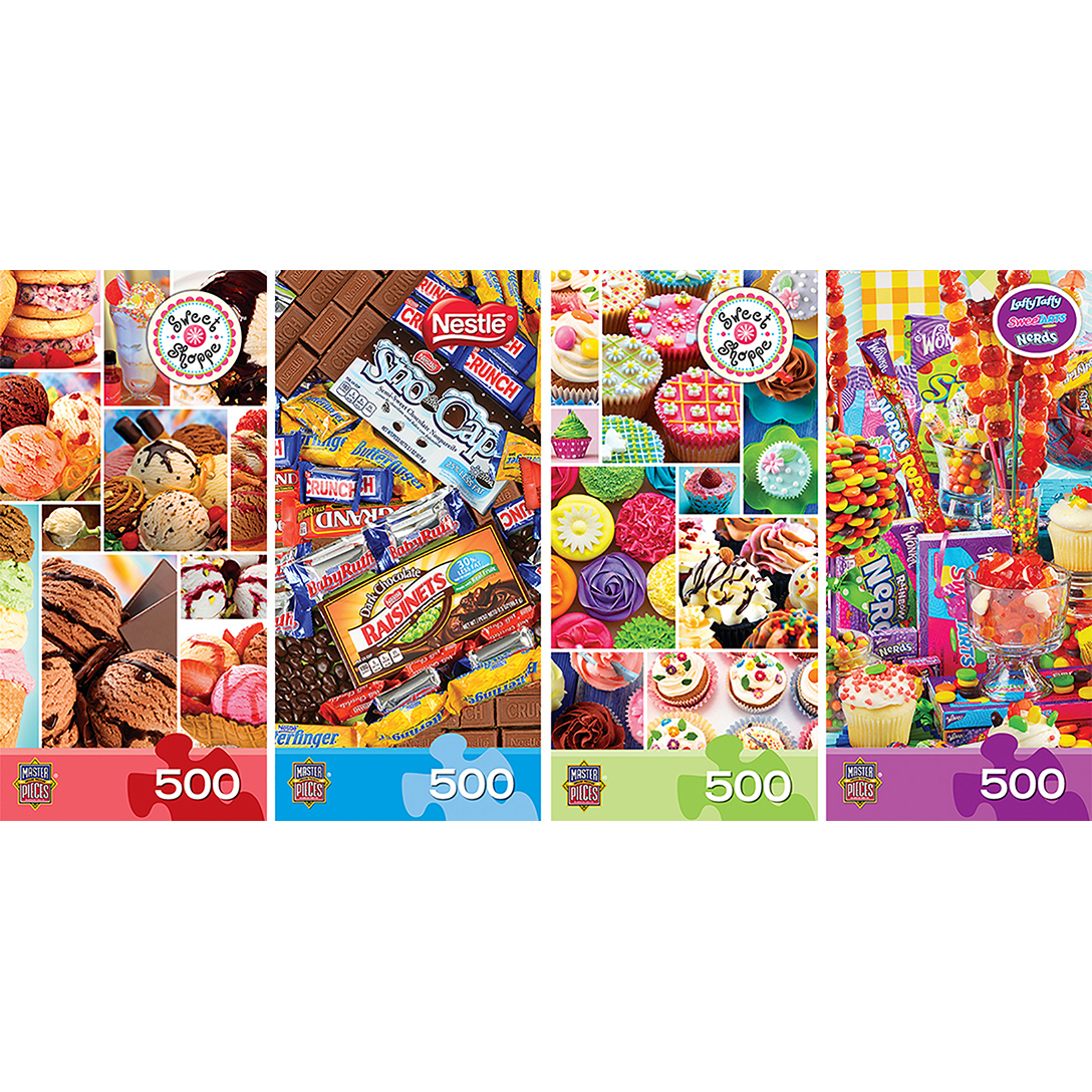 4 Pack Assortment - Sweet Shoppe Puzzle (4 - 500 Piece)