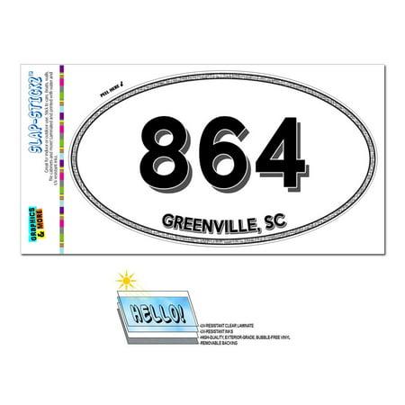864 - Greenville, SC - South Carolina - Oval Area Code - Greenville Sc Halloween
