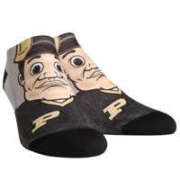 Purdue Boilermakers Rock Em Socks Mascot Low Ankle Socks - L/XL