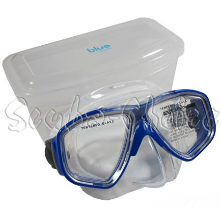 Scuba Blue Isla Low volume Free Dive Blue Silicone Mask with Box