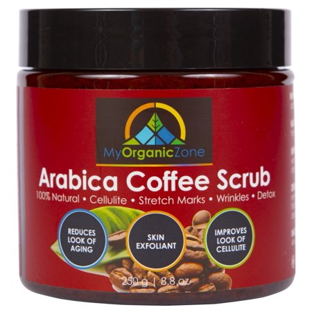 Arabica Coffee Scrub, 100% Natural Body Scrub for Cellulite Treatment, Exfoliating Cream (250g/8.8oz) (Dermalogica Exfoliating Body Scrub)