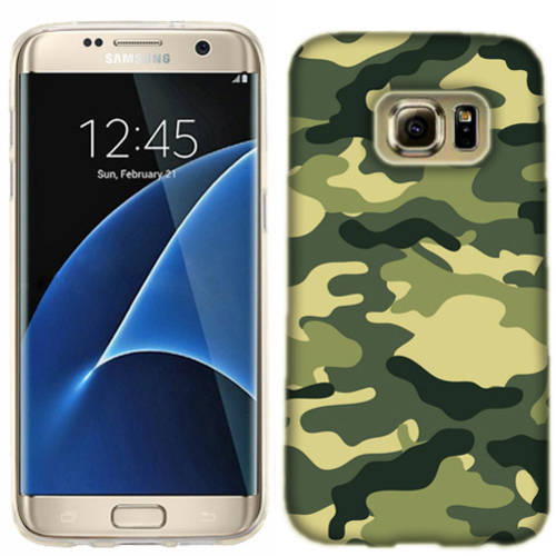Mundaze Green Camo Phone Case Cover for Samsung Galaxy S7 edge