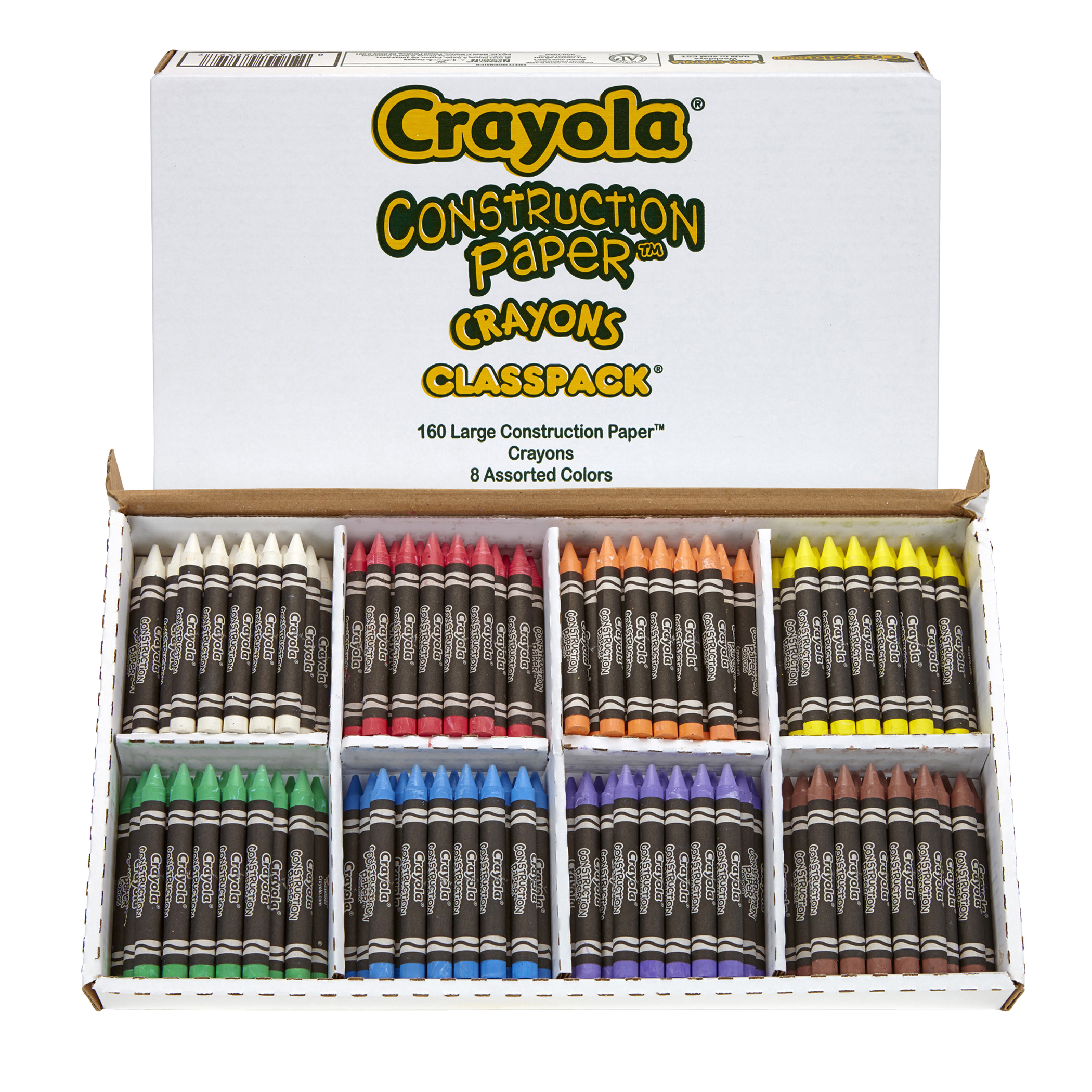Crayola® Construction Paper Crayon Classpack, Pack of 160