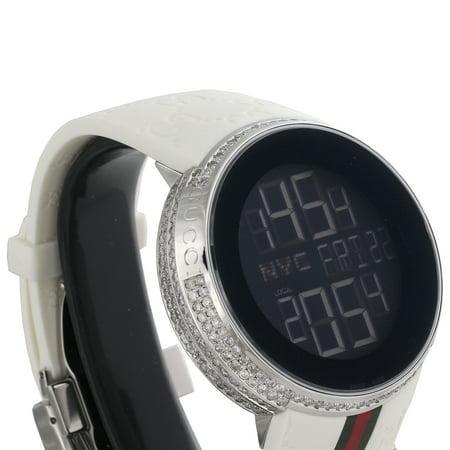 441ca6b2dc3 Gucci - Diamond White Watch Mens Full Casing Ya114214 5 Row Custom Digital  3.5 CT - Walmart.com