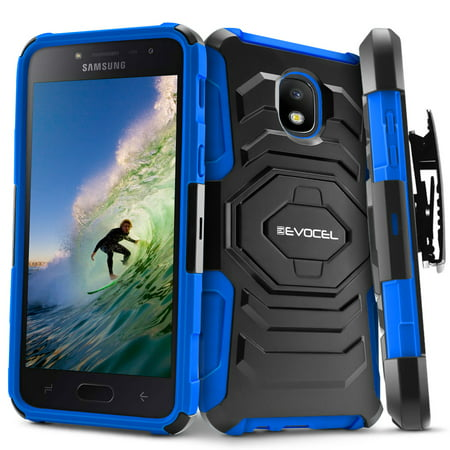 Galaxy J3 (2018) Case, Evocel New Generation Series [Belt Clip Holster] [Kickstand] [Dual Layer] Phone Case for Samsung Galaxy J3 (2018 Release), (Holster Car Charger New Clip)