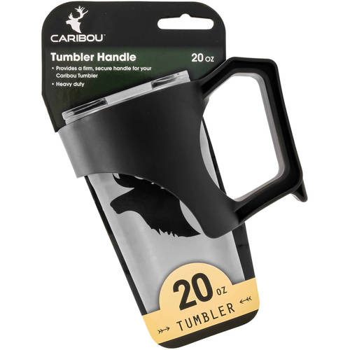 Camco 20oz Currituck Tumbler Slide On Handle, Easily Slides and Creates an Ergonomic Handle for Better Grip - Black (51919)