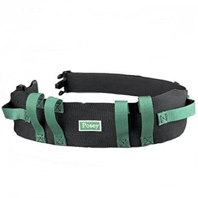 Posey Transfer Belt, Gait Belt, 55 Inch Green, Quick Release, Black Nylon, 6537Q - Each