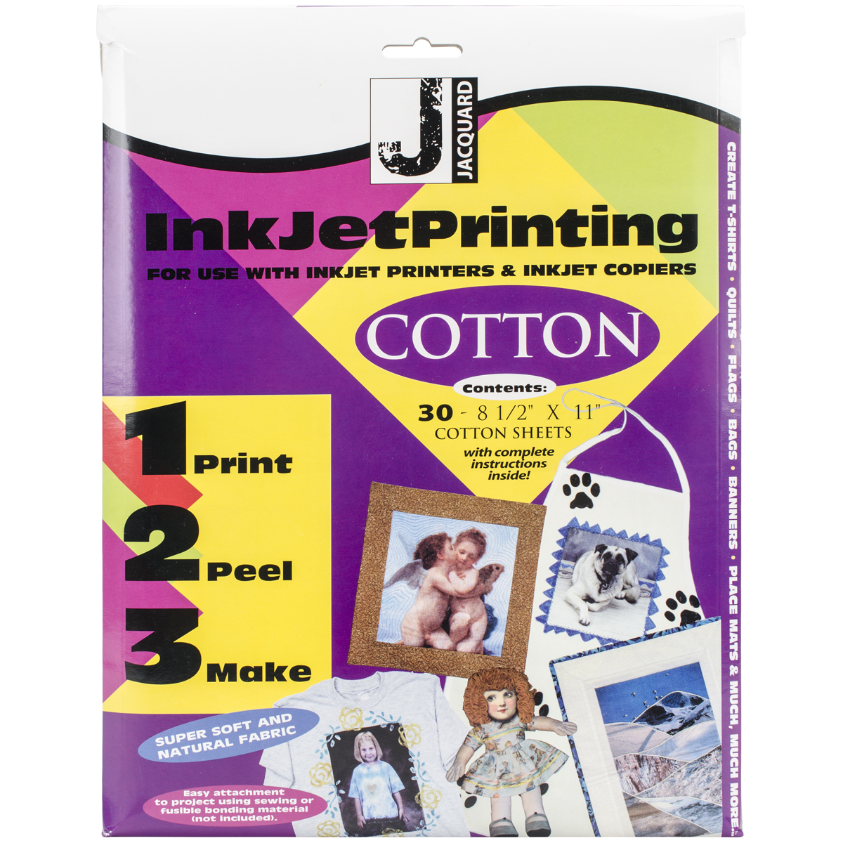 """Ink Jet Fabric Sheets 8.5""""X11"""" 30/Pkg-100% Cotton Percale"""