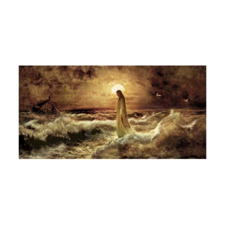 - Christ on Water Print Wall Art By Jason Bullard